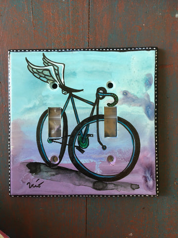 Double Light Switch Plate - Bicycle Freedom