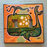 Double Light Switch Plate - Moby