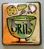 Double Light Switch Plate - Grits