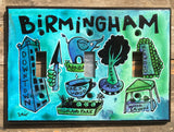 Triple Light Switch Plate - Birmingham Neighborhoods
