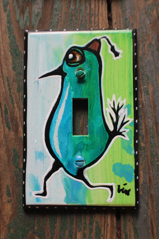 Single Light Switch Plate - Shriner birdie