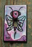 Single Light Switch Plate - Moth