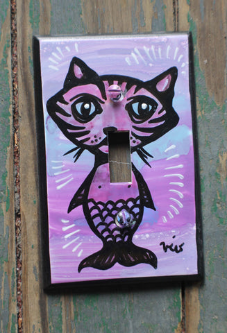 Single Light Switch Plate - Catmaid