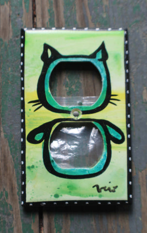 Plug Plate - Cat and Dog