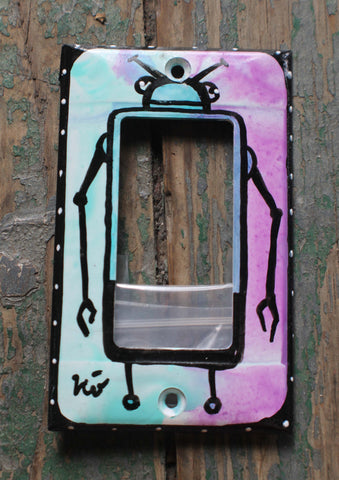 Single Light Switch Plate - new style - Robot