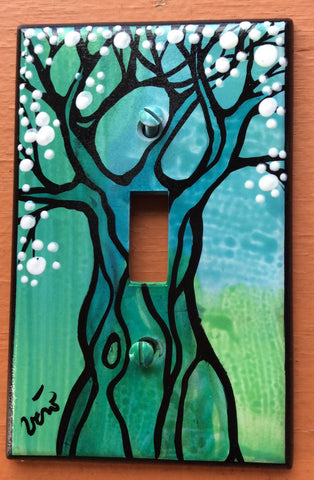 Single Light Switch Plate - Tree