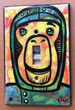 Single Light Switch Plate - Space Monkey