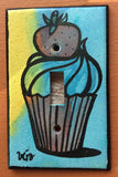 Single Light Switch Plate - Cupcake
