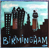 Double Light Switch Plate - Birmingham