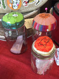 Voodoo pin cushions/storage jars