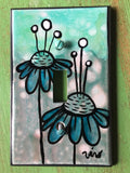 Single Light Switch Plate - Flowers
