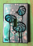 Single Light Switch Plate - Botanical 4