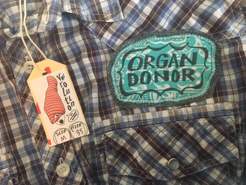 "Shirt - ""Organ donor"" - men's size medium"