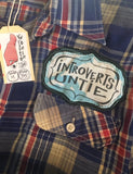 "Shirt - ""Introverts Untie"" - men's size medium"