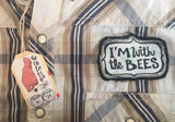 "Shirt - ""I'm With The Bees"" - men's size medium"
