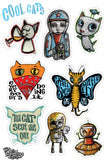Sticker sheet - Cool Cats