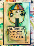 Single Light Switch Plate - Be Yourself