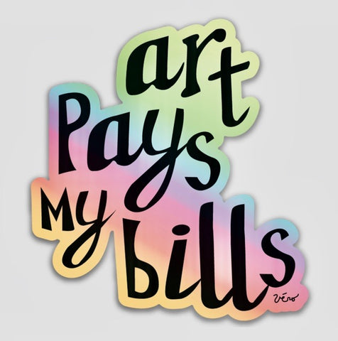 Sticker - Art Pays my Bills