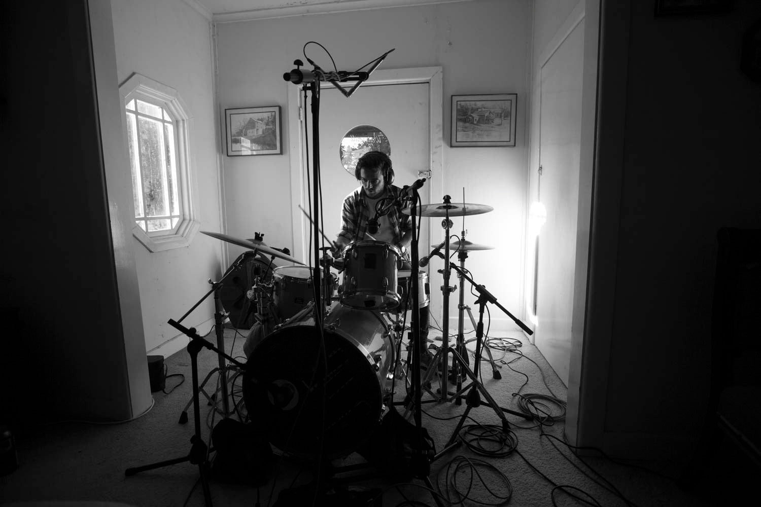 Tankerville recording session © Zo Damage