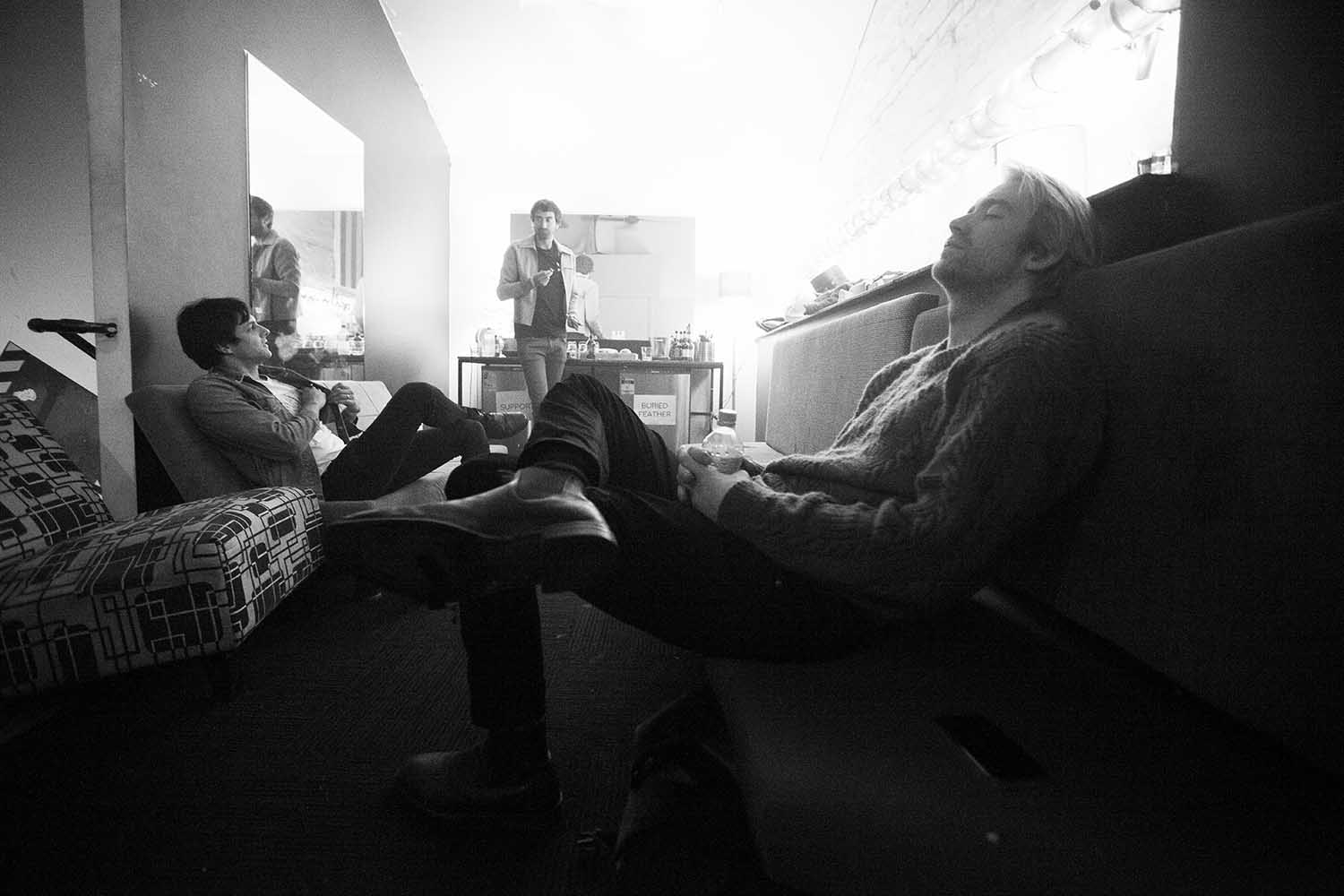 Backstage with Buried Feather © Zo Damage