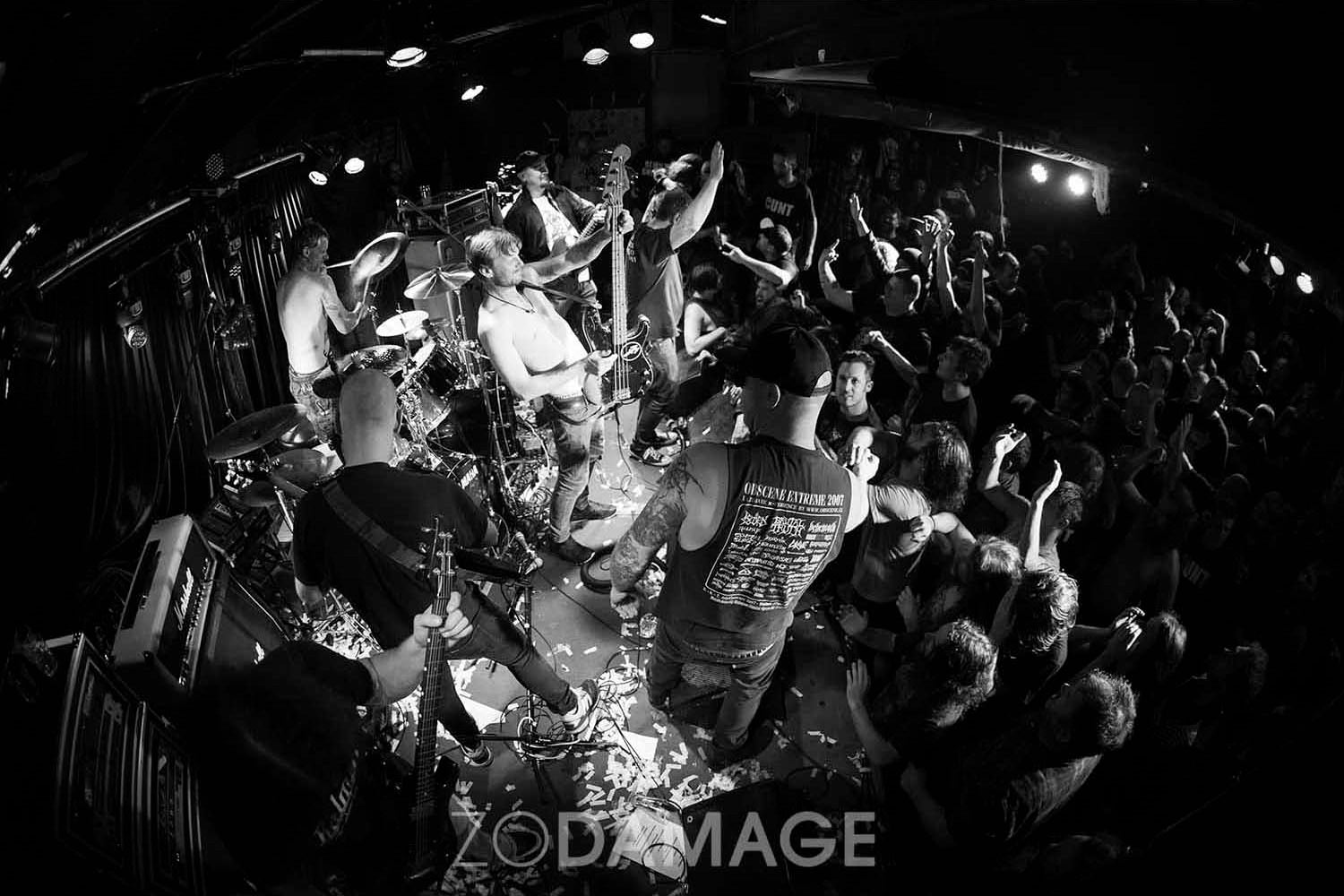 Blood Duster play their last show at The Tote © Zo Damage