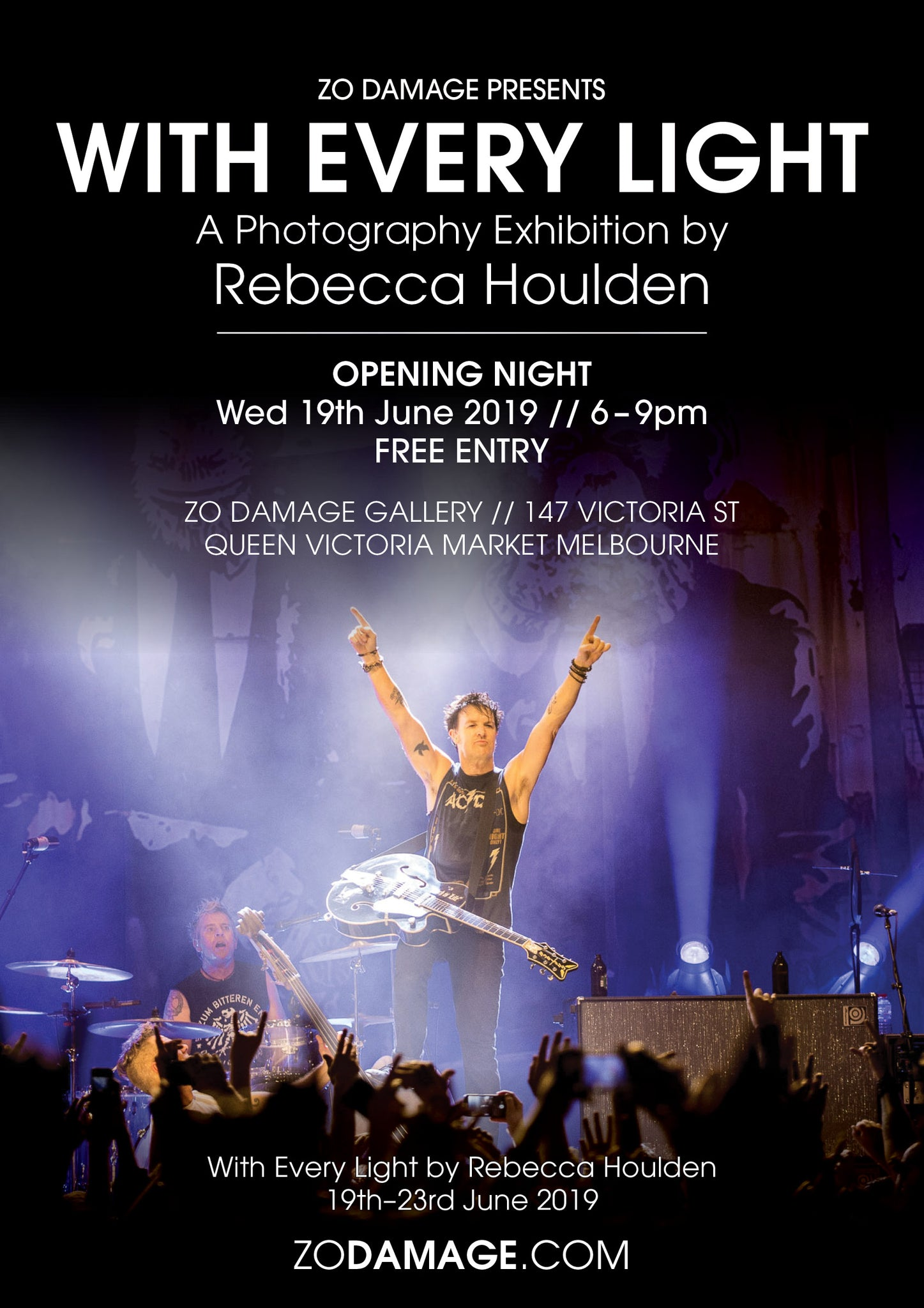 Rebecca Houlden photography exhibition presented by Zo Damage