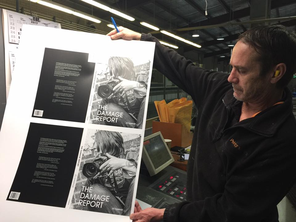 At the Melbourne printer to press-check The Damage Report