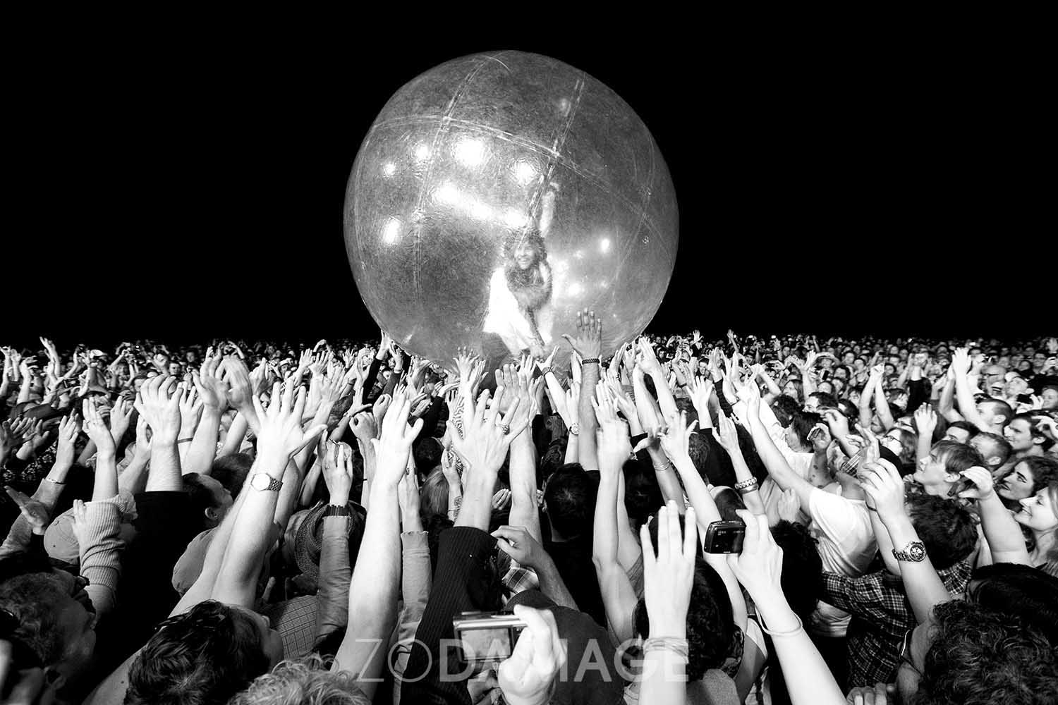 The Flaming Lips (Wayne Coyne), Harvest Festival 2011 © Zo Damage