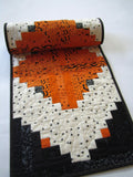 Halloween Quilted Table Runner in Orange and Black