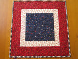 Quilted Patriotic Table Topper with Stars