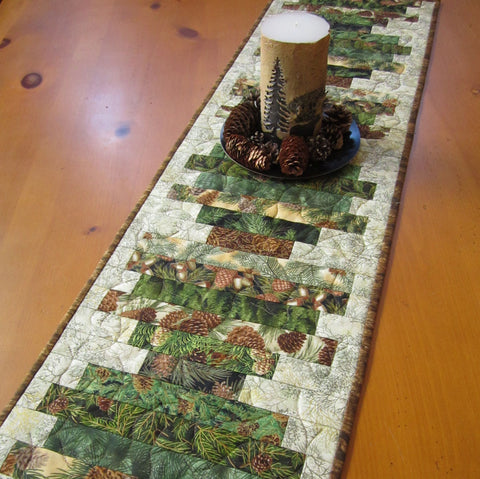 Pine Cone and Sprigs Table Runner