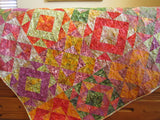 Batik Quilt in Bright Colors