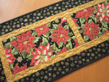 Christmas Table Runner Poinsettias