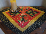 Christmas Table Topper with Poinsettias