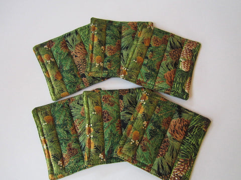 CUSTOM ORDER Coasters with Pine Sprigs