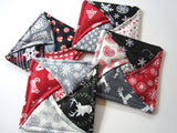 Christmas Quilted Coasters Set of Four