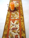 Fall Quilted Table Runner with Autumn Colors