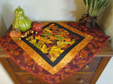 Fall Leaves Centerpiece Quilted Handmade Table Topper