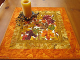 Fall Table Topper Autumn Leaves Handmade Home Decor