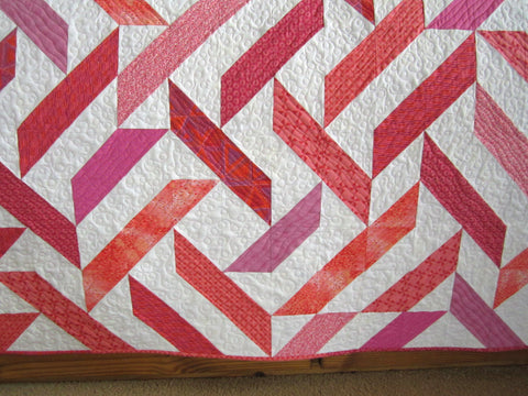 Pink Coral Handmade Quilt