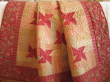 Patchwork Quilt Red and Tan