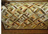 Handmade Patchwork Quilt Batik Homemade Lap Quilt Home Decor Wall Quilt
