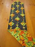 Table Runner Leaves Quilted Handmade Sale