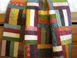 Patchwork Quilt Rail Fence