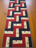Patriotic Table Runner, Quilted Handmade Table Decor