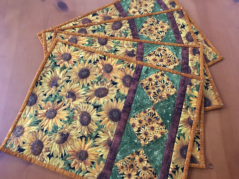Sunflower Placemats Kitchen Decor Set of 4