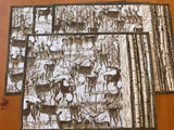 Placemats Set of 4 Deer Scene Table Setting