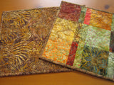 CUSTOM ORDER Fall Batik Placemats Set of Two