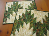 Placemats with Pine Cones and Holly