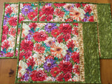 Bright Floral Placemats Set of 4 Kitchen Decor